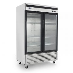 MCF8703 - Bottom Mount (2) Two Glass Door Freezer
